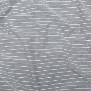 British Imported Silver Striped Drapery Sheer