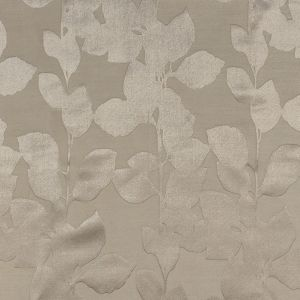British Imported Fawn Satin-Faced Florals Drapery Jacquard