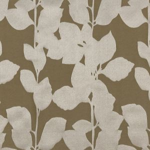 British Imported Olive Satin-Faced Florals Drapery Jacquard