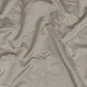 British Imported Dove Floral Satin-Faced Drapery Jacquard