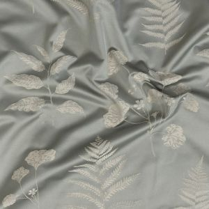 British Imported Sky Floral Satin-Faced Drapery Jacquard