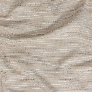 British Imported Oyster Drapery Faille with Raised Woven Stripes