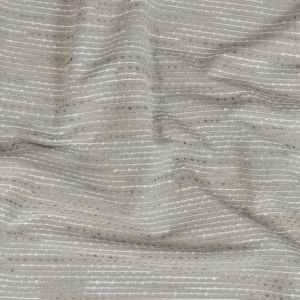 British Imported Pewter Drapery Faille with Raised Woven Stripes