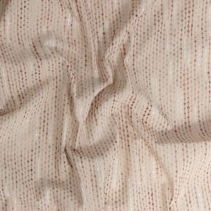 British Imported Shell Drapery Faille with Raised Woven Stripes