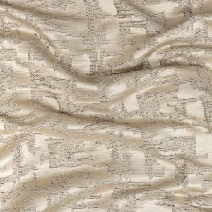 British Imported Oyster Abstract Drapery Jacquard
