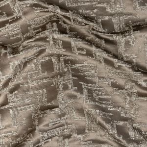 British Imported Pewter Abstract Drapery Jacquard