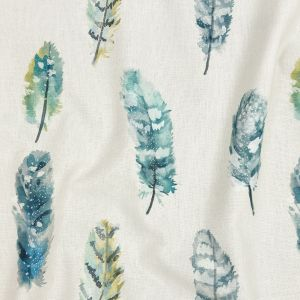 British Imported Spa Watercolor Feathers Printed Cotton Canvas