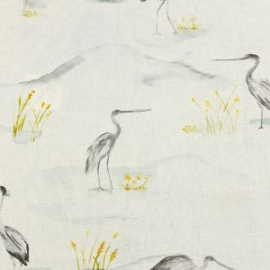 British Imported Stone Watercolor Storks Printed Cotton Canvas