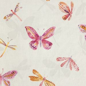 British Imported Autumn Watercolor Butterflies Printed Cotton Canvas