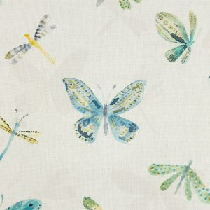 British Imported Spa Watercolor Butterflies Printed Cotton Canvas