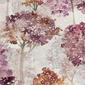 British Imported Berry Watercolor Trees Printed Cotton Canvas