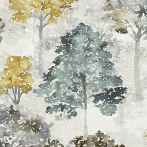 British Imported Stone Watercolor Trees Printed Cotton Canvas