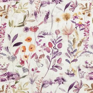 British Imported Berry Watercolor Foliage Printed Cotton Canvas