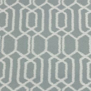 British Imported Duckegg Geometric Ikat Polyester Pique