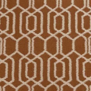 British Imported Terracotta Geometric Ikat Polyester Pique