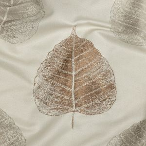 British Imported Terracotta Large-Scale Leaves Polyester Jacquard