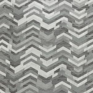 British Imported Silver Tactile Zig Zags Polyester Jacquard