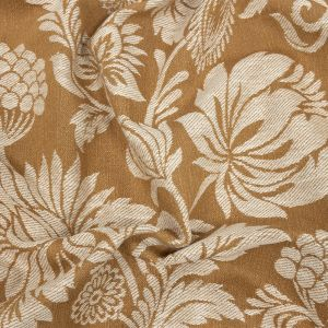British Imported Ochre Floral Drapery Jacquard
