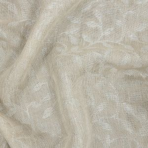 British Imported Oyster Double Width Foliage Drapery Jacquard
