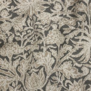 British Imported Silver Floral Drapery Jacquard