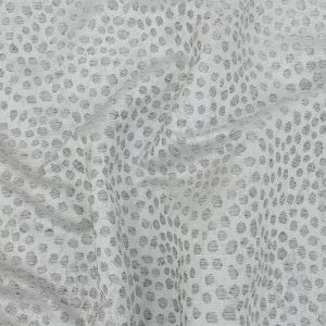 British Imported Platinum Spotted Polyester Jacquard