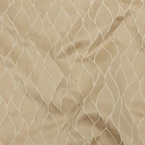 British Imported Gold Leafy Silhouettes Polyester Jacquard