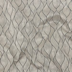 British Imported Pewter Leafy Silhouettes Polyester Jacquard