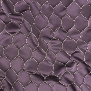 British Imported Amethyst Ogee Drapery Jacquard