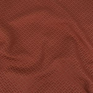 British Imported Coral Geometric Polyester Jacquard