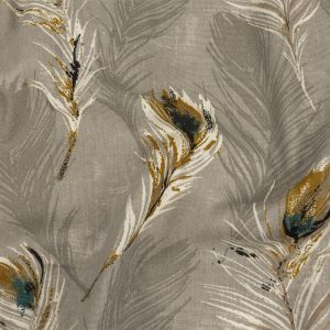 British Imported Linen Feathers Printed Cotton Canvas