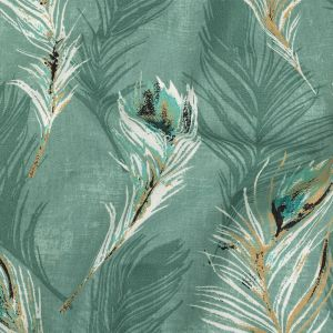British Imported Spa Feathers Printed Cotton Canvas