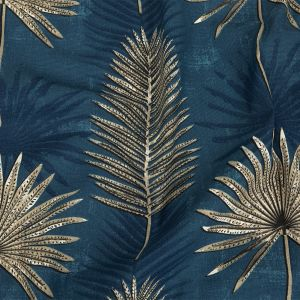 British Imported Ink Ferns Printed Cotton Canvas