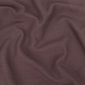 British Imported Aubergine Polyester, Viscose and Linen Woven