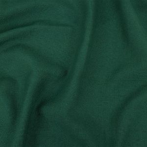 British Imported Emerald Polyester, Viscose and Linen Woven