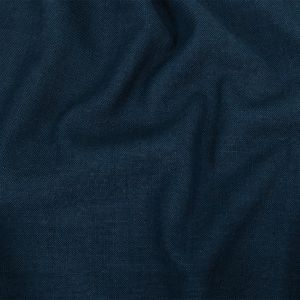 British Imported Indigo Polyester, Viscose and Linen Woven