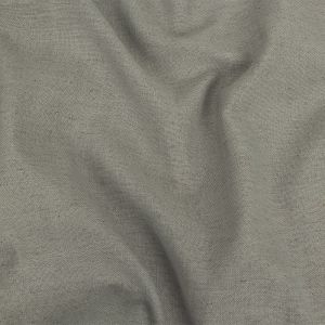 British Imported Silver Polyester, Viscose and Linen Woven