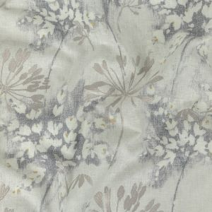 British Imported Pebble Floral Printed and Embroidered Drapery Canvas