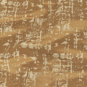 British Imported Toffee Satin-Faced Abstract Drapery Jacquard