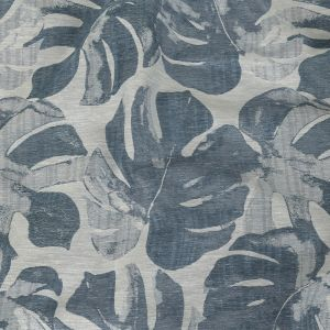British Imported Ink Monstera Leaves Drapery Jacquard