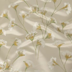 British Imported Mimosa Floral Satin-Faced Drapery Jacquard