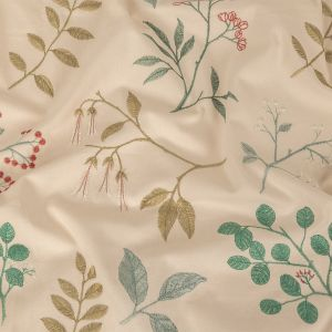 British Imported Spa Floral Embroidered Cotton Twill