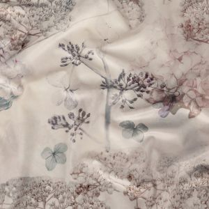 British Imported Blush Floral Polyester Knit Microvelvet