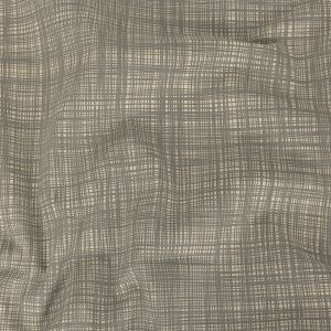 British Imported Cool Gray Uneven Grid Printed Cotton Canvas