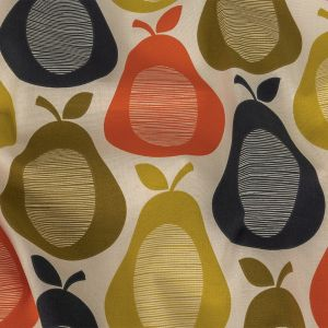 British Imported Multicolor Pears Printed Cotton Canvas