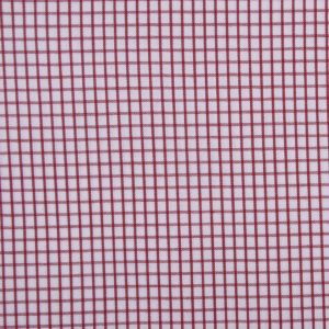 Reddish Brown and White Graph Checked Cotton Shirting
