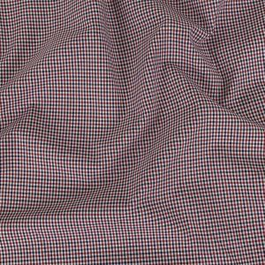 Fire Whirl, Brilliant White and Skipper Blue Tattersall Check Cotton Shirting