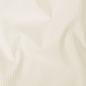 White Ribbed Stretch Cotton Woven