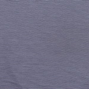 Famous NYC Designer Gray and Blue Striped Cotton Suiting