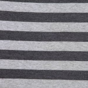 Steel Gray Awning Striped Cotton Jersey