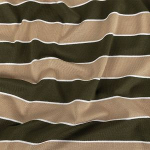 Incense and Moss Awning Striped Stretch Jersey Knit